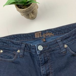 Kut From The Kloth Dark Wash Bootcut Jeans - 12